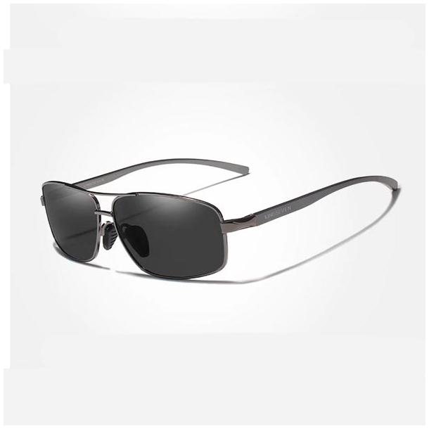 #S41 Sporty solbrille med polaroid glas og UV400 filter - Grå - Med beskyttelsescover