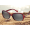 #S30 Luksus Dame solbrille med rødt stel - Polaroid og UV400 filter