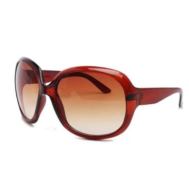 #S31 Luksus Dame solbrille med butterfly glas - Polaroid og UV400 filter - Rød stel