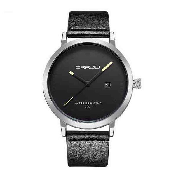 #83 Lækkert sort Dress-ur med alu hus og datovisning