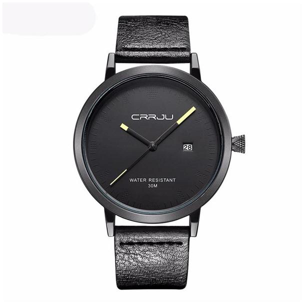 #535 Lækkert sort Dress-ur med datovisning