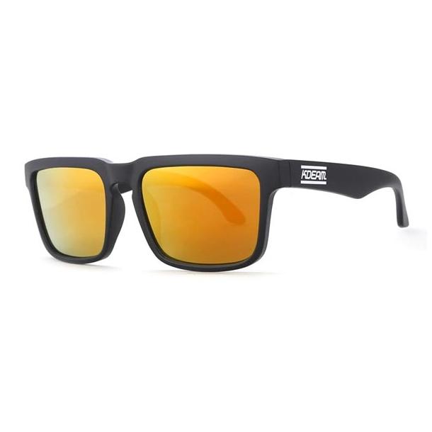 #S51 Lækker surfet solbrille med orange glas - Polaroid glas