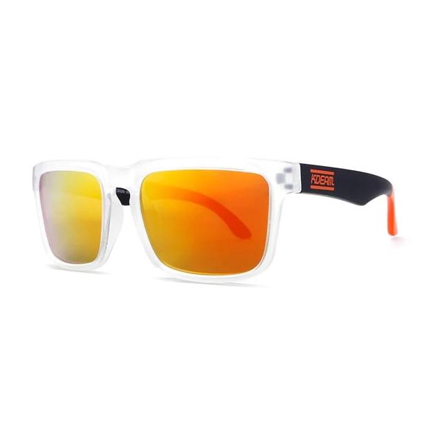 #S53 Lækker surfet solbrille med neutral plast stel - Polaroid glas