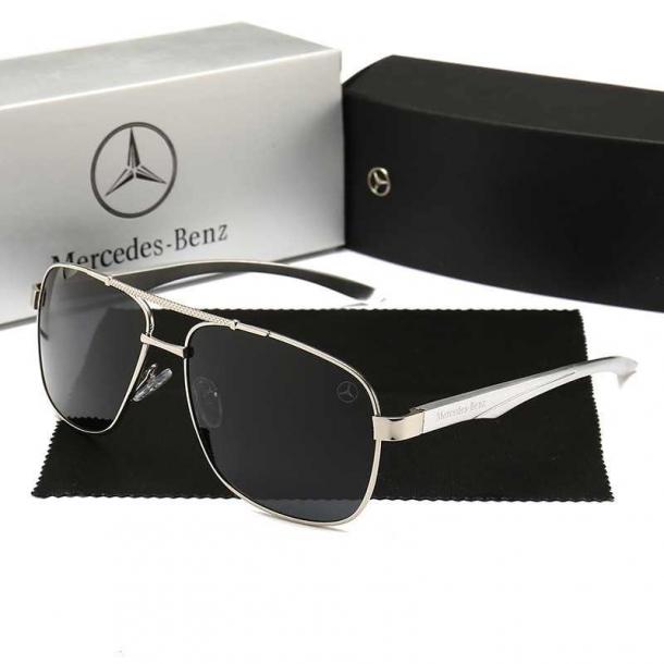 #S54 Super lækker Mercedes solbrille i alu med polaroid glas og UV filter