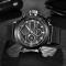 #143 Lækkert ur med sort skive, separat sekundviser og sort MESH rem