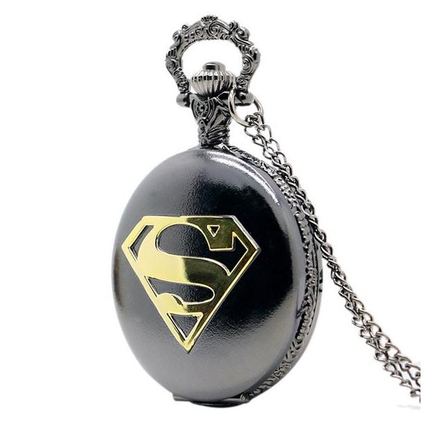 #437 Flot oxideret lommeur med Supermand logo
