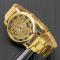 #67 lækkert guldtonet skeleton armbåndsur