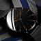 #135 Lækkert ur med sort skive og hus, med MESH rem