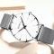 #136 Lækkert ur med hvid skive, stålhus og MESH rem