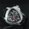 #194 Lækkert trekantet herre armbåndsur med chronograph