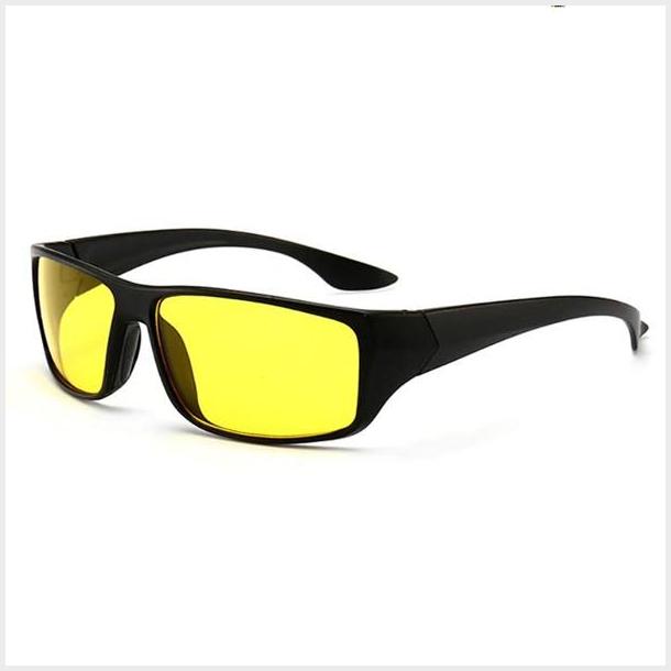 #S34 Smart kørebrille med UV400 filter og anti refleksion - night vision - gult glas