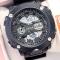 #173 Lækkert militære ur med digital display ur - sort hus og rem