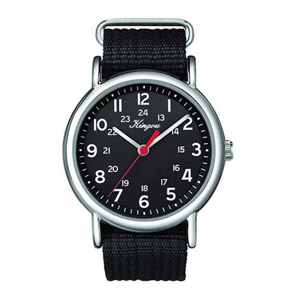 #106 Army ur med sort urskive og canvas rem