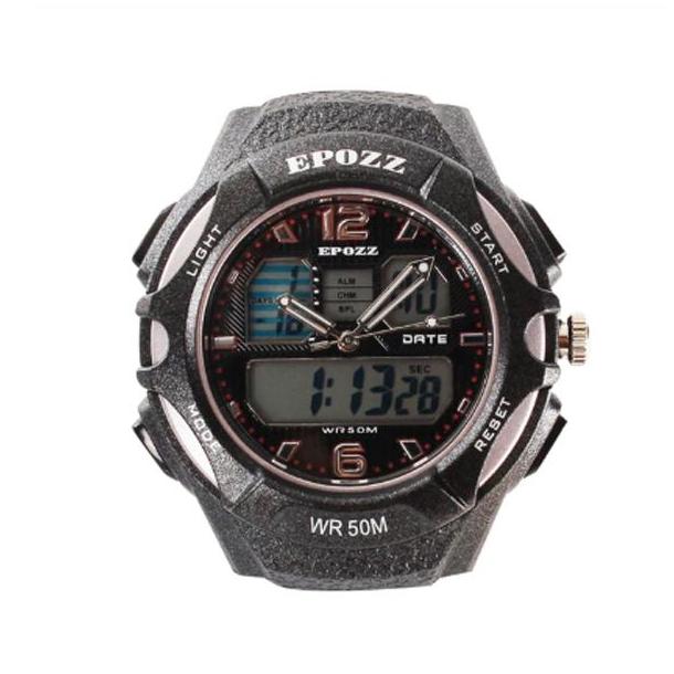 #307 Lækkert sort dobbelt ur og sort rem