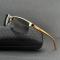 #S83 Sporty guldtonet solbrille med UV filter og polaroid-glas