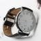 #56 Klassisk ur med hvid skive og sort rem - uden logo