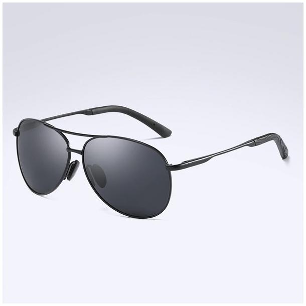 #S86 Cool pilot solbrille med sort stel - polaroid og UV400 filter