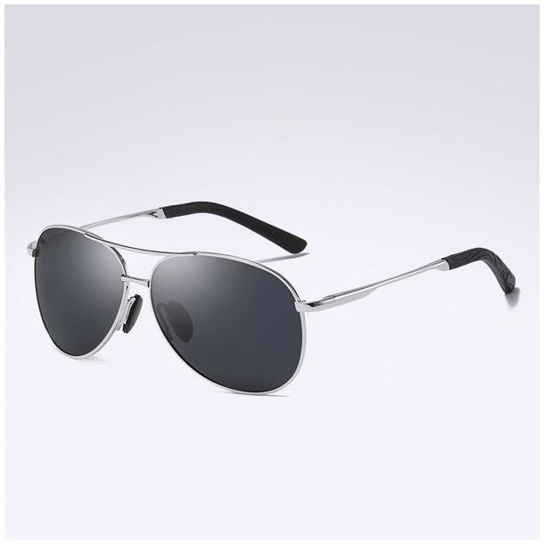 #S87 Cool pilot solbrille med stel i stål - polaroid og UV400 filter