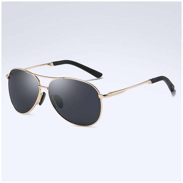 #S88 Cool pilot solbrille med guldtonet stel - polaroid og UV400 filter