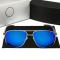 #S81 Super lækker Mercedes solbrille med blåt polaroid glas og UV filter