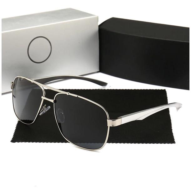 #S82 Super lækker Mercedes solbrille med mørkt polaroid glas og UV filter