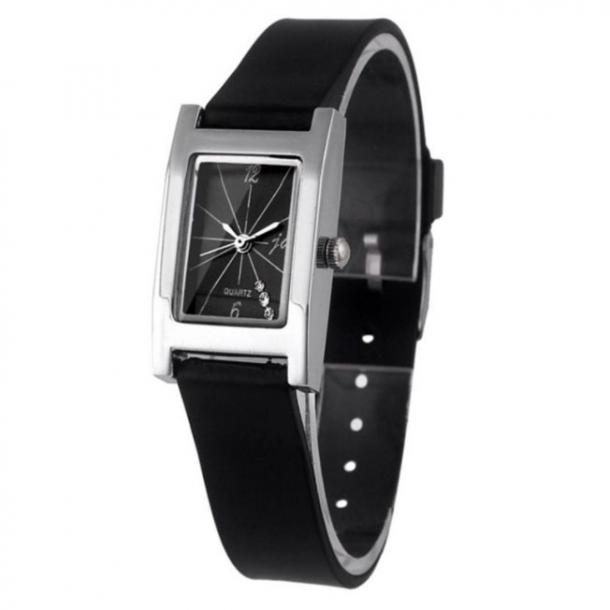 #216 Smart firkantet sort dame ur