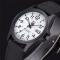 #306 Stilrent sort militær ur med canvas rem og datovisning