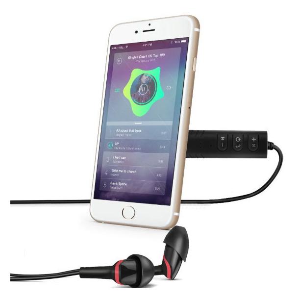 Mini Trådløs Bluetooth modtager med 3.5mm Jack stik - sort