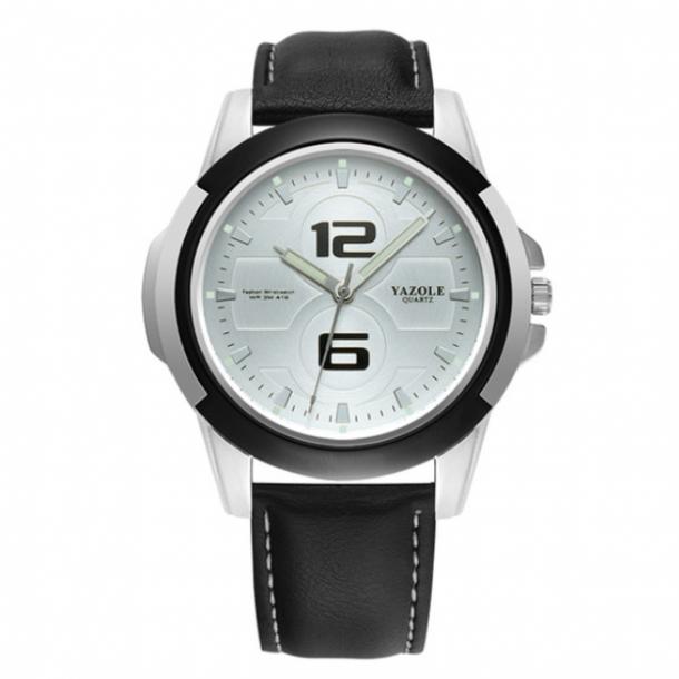 #489 Stilet armbåndsur med lækker skive og sort rem