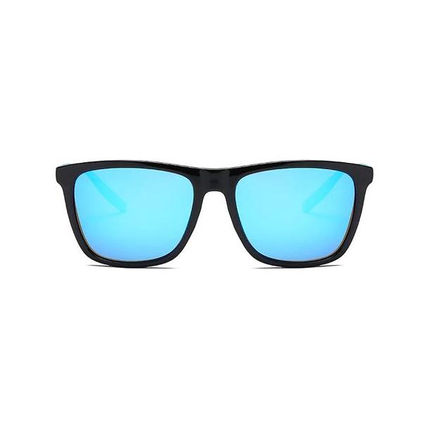 #S29 Sort solbrille med søvlblå glas - polaroid-glas