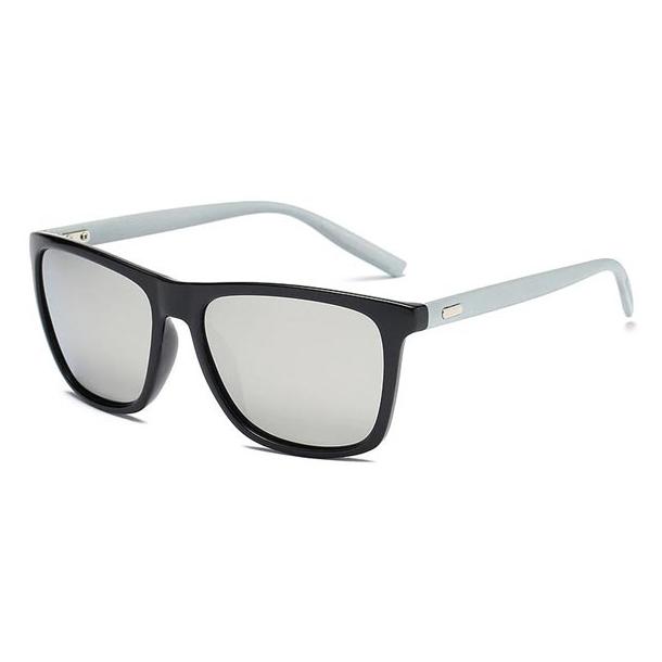 #S28 Sort solbrille med søvlgrå glas - polaroid-glas