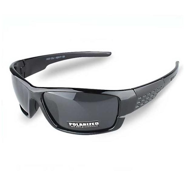 #S13 Sporty sort solbrille med UV400 filter og polaroid-glas