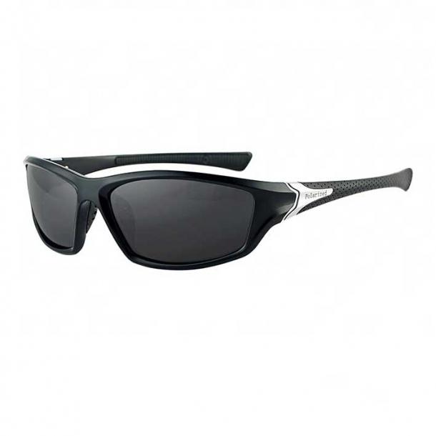 #S21 Sporty solbrille med UV filter og polaroid-glas - Sort