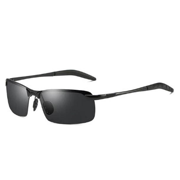 #S3 Polaroid solbriller med alu stel - sort