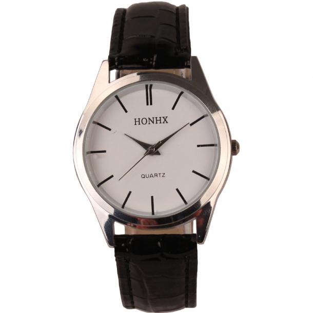 #356 Klassisk armbåndsur med brun rem