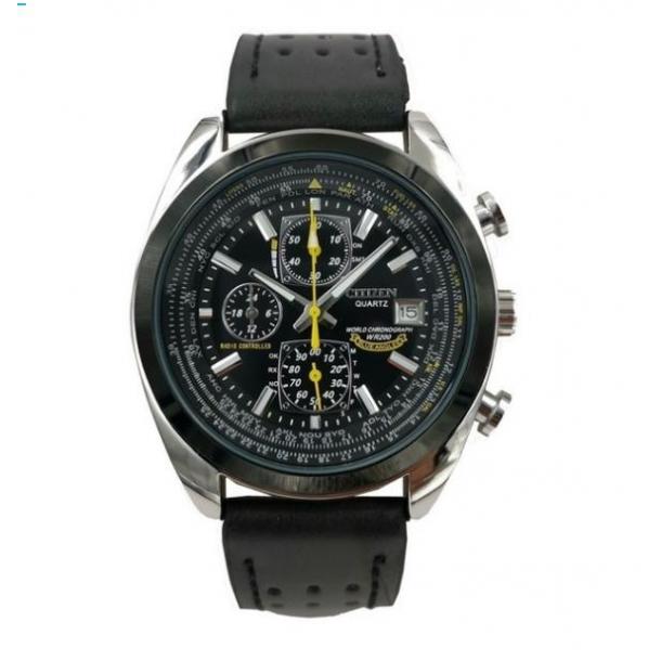 #351 Lækker sort chronograph pilotur