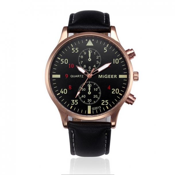 0ba15a06475 192 Lækkert ur med sort skive og gyldent hus - Herre Dress-ure ...